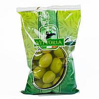 Оливки зеленые крупные с косточкой Виттория Vittoria Olive Verdi Dolci Giganti, 850 г