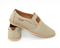 Бежевые мужские туфли по доступной цене