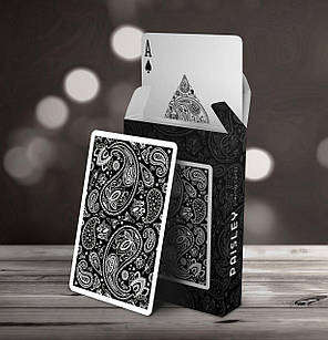 Карты игральные | Paisley Playing Cards Workers Black, фото 2
