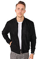 Куртка чоловіча Legends бомбер з коміром-ribana Чорна.