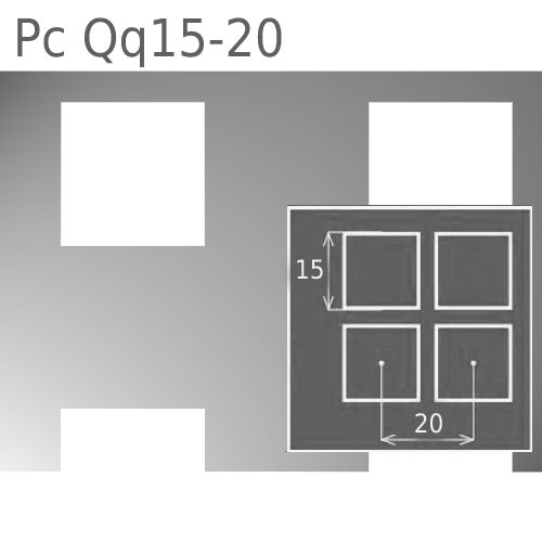 Перфорированный лист Pc Qq15-20/1.0/1000х2000