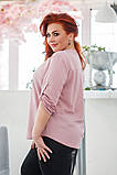 Красивая нарядная женская батальная блузка 50-56р.(4 расцв), фото 6