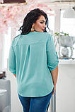 Красивая нарядная женская батальная блузка 50-56р.(4 расцв), фото 8