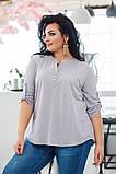 Красивая нарядная женская батальная блузка 50-56р.(4 расцв), фото 3
