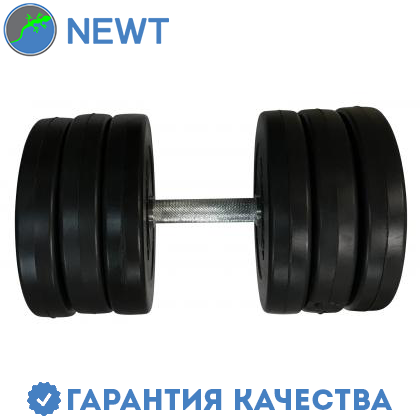 Гантель наборная композитная в пластиковой оболочке Newt Rock Pro-R 16,5 кг, фото 2