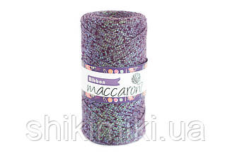 Трикотажный плоский шнур Ribbon Glitter, цвет Мистик топаз