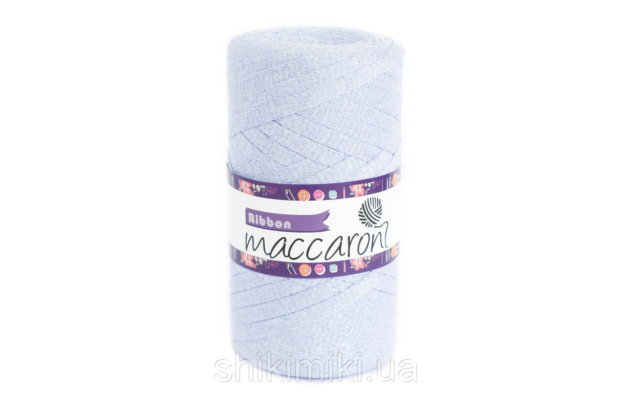 Трикотажный плоский шнур Ribbon Glitter, цвет Голубая сирень