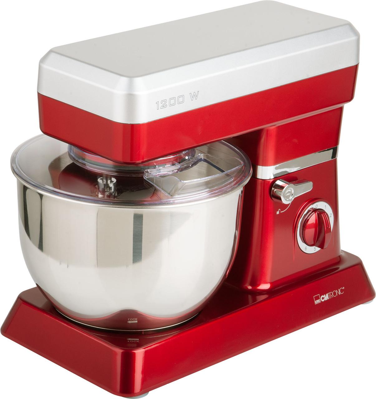 Кухонная машина (6,3 л., тестомесильная машина, планетарный миксер) CLATRONIC KM 3630 red