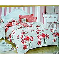 Комплекты постельного белья Elway-  Сатин (Польша)Двуспальный Евро 200-220см