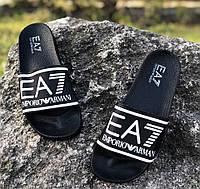 Шлепанцы мужские Emporio Armani EA7 D3798 черные, фото 1