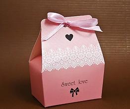 Коробочки для конфет розово-персиковые