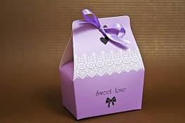 Бонбоньерки sweet love 9х7х5 см., сиреневые
