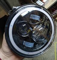 Светодиодная фара LED линза УАЗ, Нива, ВАЗ 2101, 2102, Jeep Wrangler, Nissan Patrol, Land Rover, Гелик, фото 1