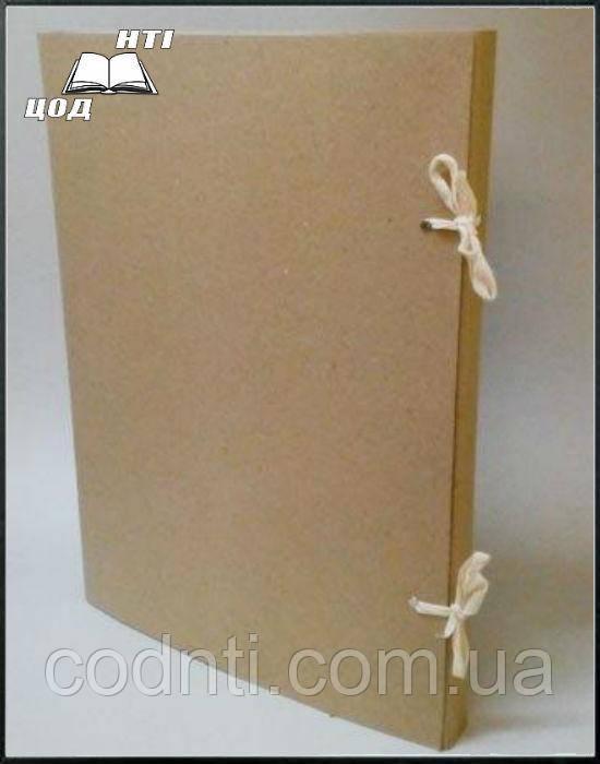 Папка на завязках архивная А2 из картона, высота корешка 30 мм