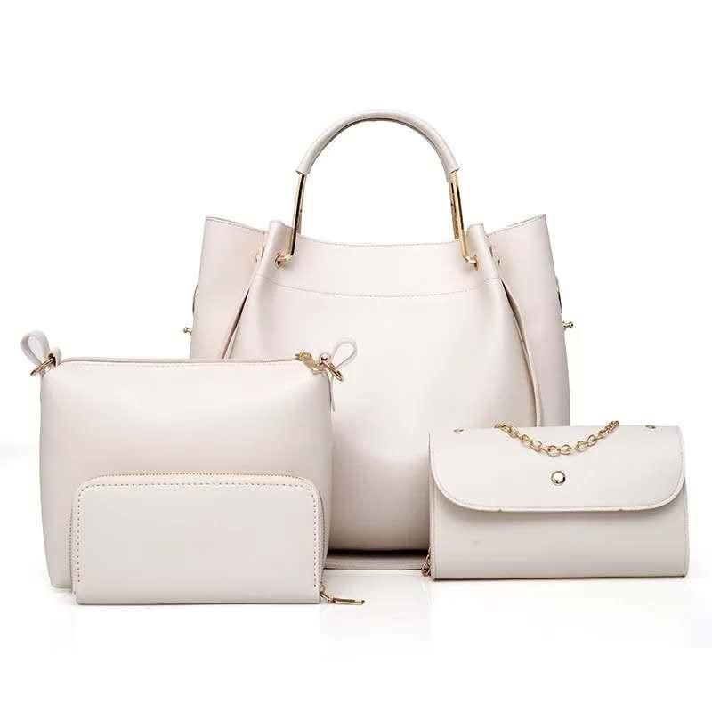 34ea971056db Женская сумка 4в1, экокожа PU (молочный) - купить по лучшей цене в ...