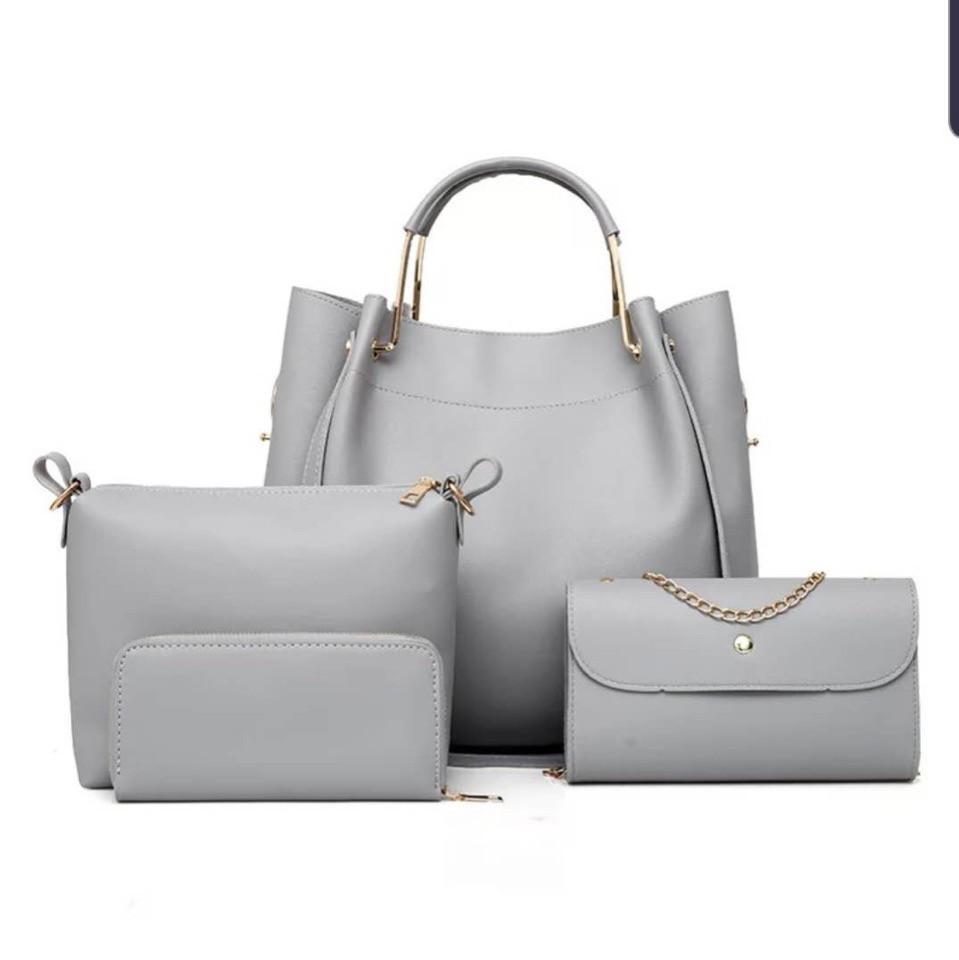 120045ad4551 Женская сумка 4в1, экокожа PU (серый) - купить по лучшей цене в ...
