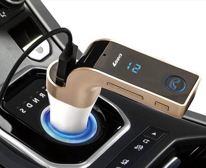 Авто FM модулятор Car G7 (Bluetooth + USB + microSD)