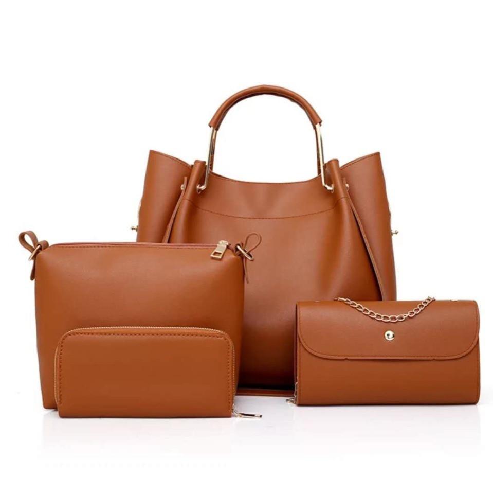 26e2715d2aaf Женская сумка 4в1, экокожа PU (коричневый) - купить по лучшей цене в ...
