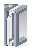 Самоклеющие дверные ручки для стекла, Valcomp Herkules GLASS,комплект 2 шт