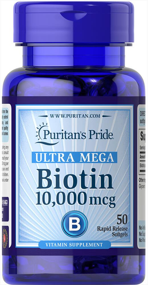 Biotin 10,000 mcg50 Softgels