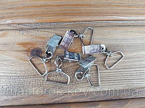 Клипса для бейджа металлическая М-1142 25мм цвет никель