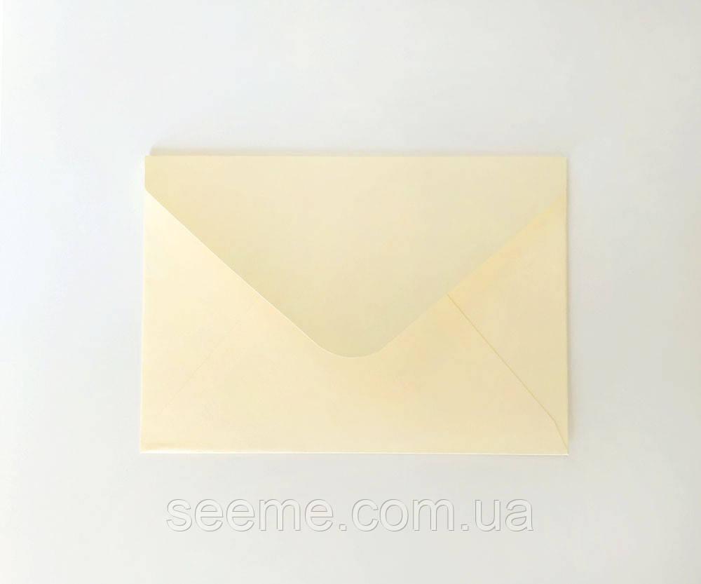 Конверт 162x113 мм, цвет айвори