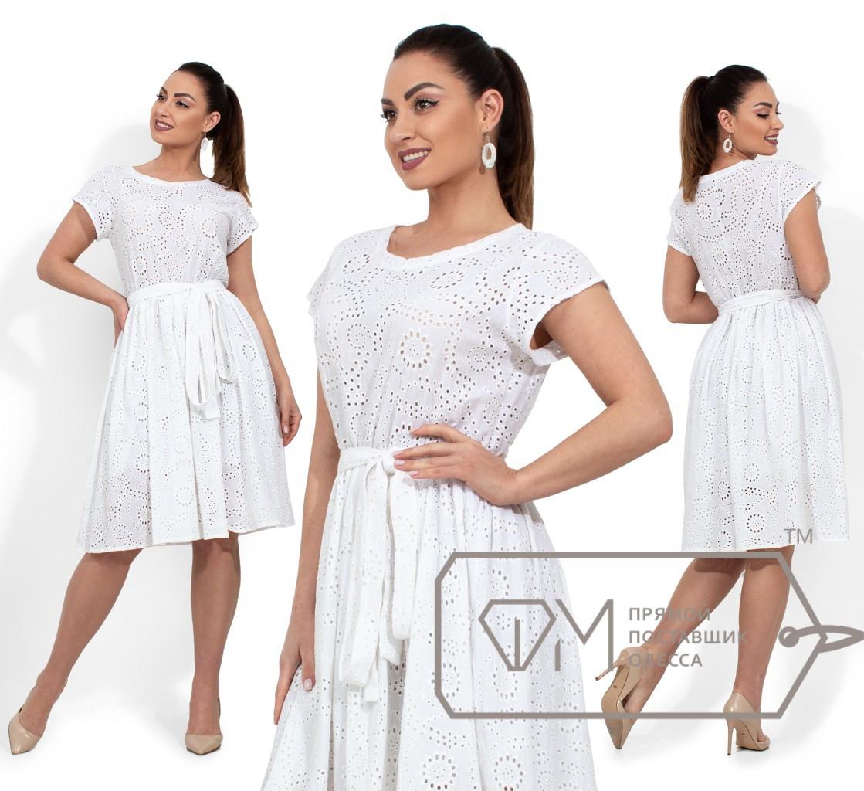 a4e24662231 Белое Платье Из Прошвы Батал — в Категории