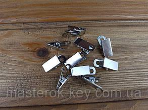 Клипса для бейджа металлическая М-1168 30*13мм цвет никель