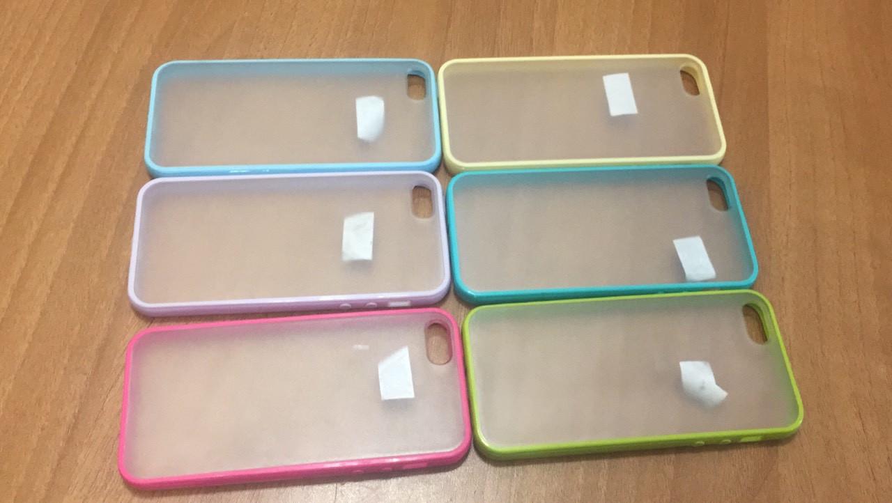 Чехол TPU Накладка для IPhone 5/5S (разные цвета)