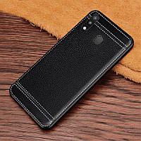 Чехол для Samsung Galaxy M20 2019 / M205 силикон бампер с рифленой текстурой черный