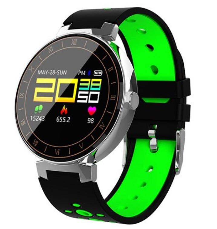 "Розумний годинник SUNROZ L8 смарт-годинник 0.95"" IP68 Чорно-Зелений (SUN4061)"