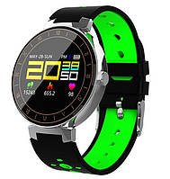 "Розумний годинник SUNROZ L8 смарт-годинник 0.95"" IP68 Чорно-Зелений (SUN4061), фото 1"