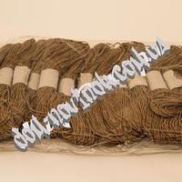 Шнур хлопчатобумажный светло-коричневый (тишью)