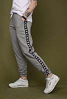Спортивные штаны мужские серые c лампасами Kappa Каппа