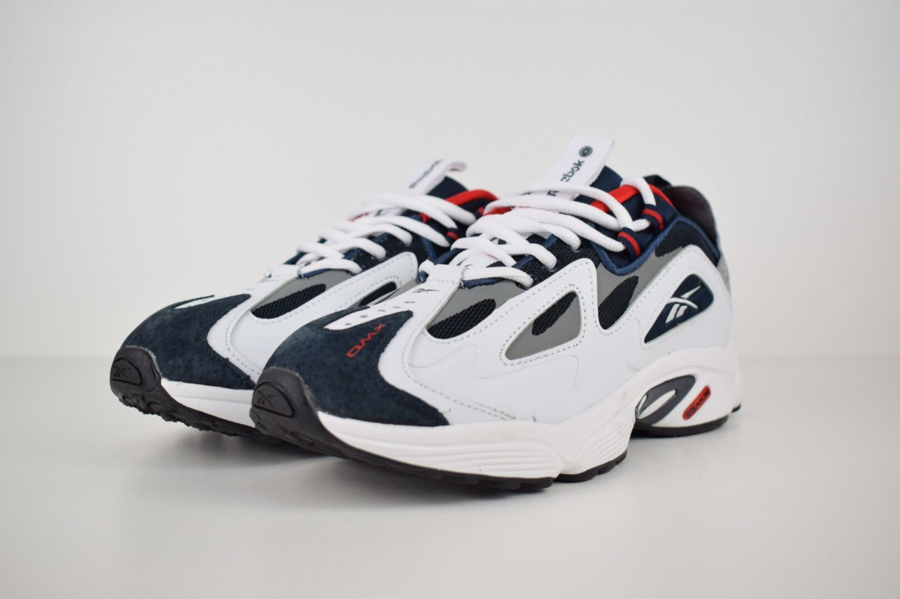13535c2c Мужские кроссовки Reebok DMX белые с синим и красным : продажа, цена ...