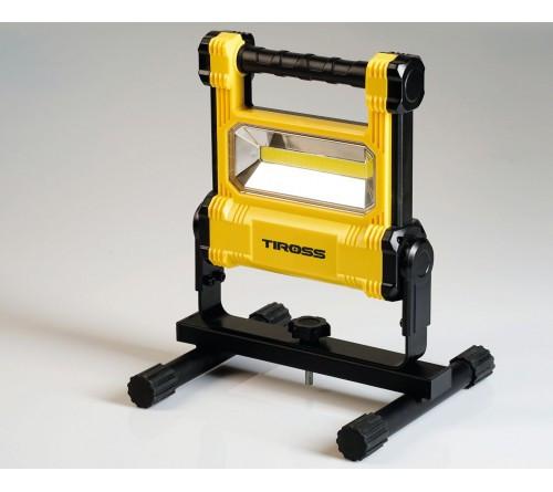 Фонарь рабочий переносной Tiross TS-1934 20w LED COB 1800lm c аккумулятором 4400mAh