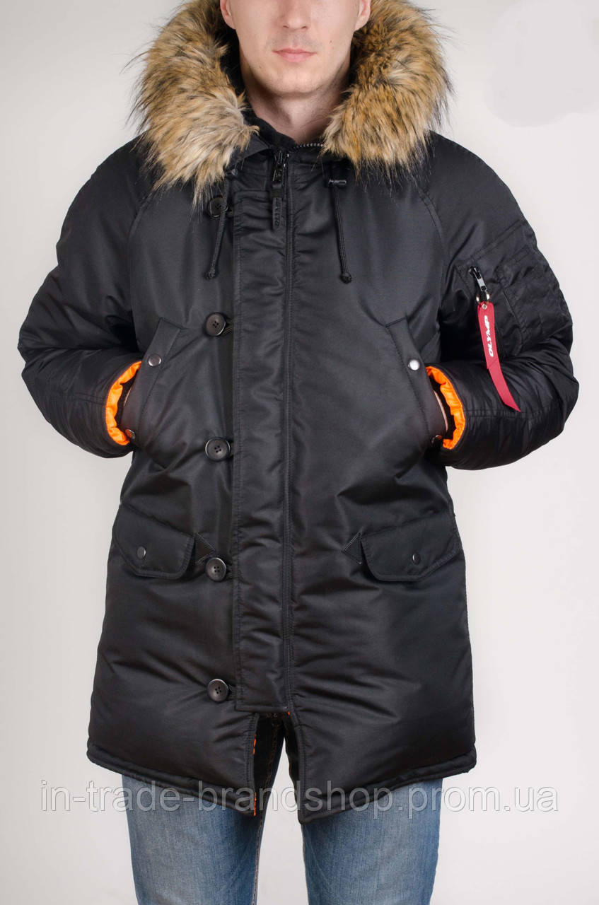 Зимняя парка Olymp 2017 - Аляска N-3B, Slim Fit, Color: Black
