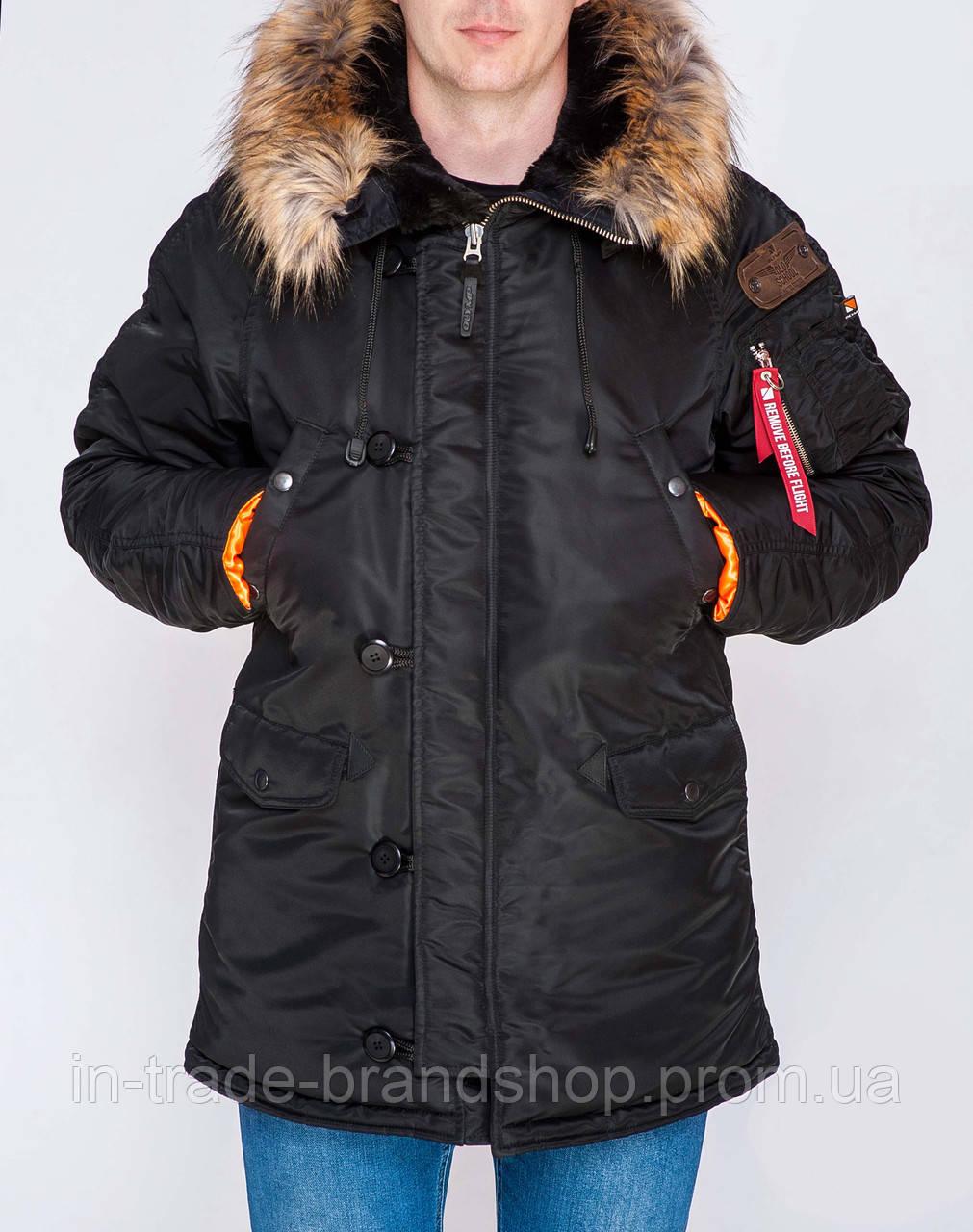 Парка Olymp — Аляска N-3B Old School, Slim Fit, Color: Black. 100% НЕЙЛОН