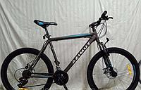 Спортивный подростковый велосипед Azimut Energy 26 дюйма,дисковые тормоза серый