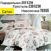 """Постельное белье  Сатин """"розы""""  Украина"""