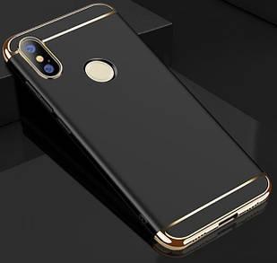 Чохол накладка з золотими вставками для Xiaomi Mi 8 SE (4 кольори)