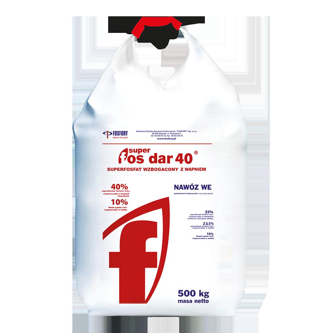 Суперфосфат двойной (SUPER FOS DAR-40 ) FOSFORY - 500 кг