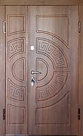 """Входная дверь """"МИНИСТЕРСТВО ДВЕРЕЙ"""" ПО-08 V Дуб темный, Vinorit (ширина 1200)"""