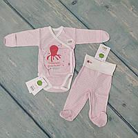 Комплект одежды в роддом для новорожденного (ажур), р. 56