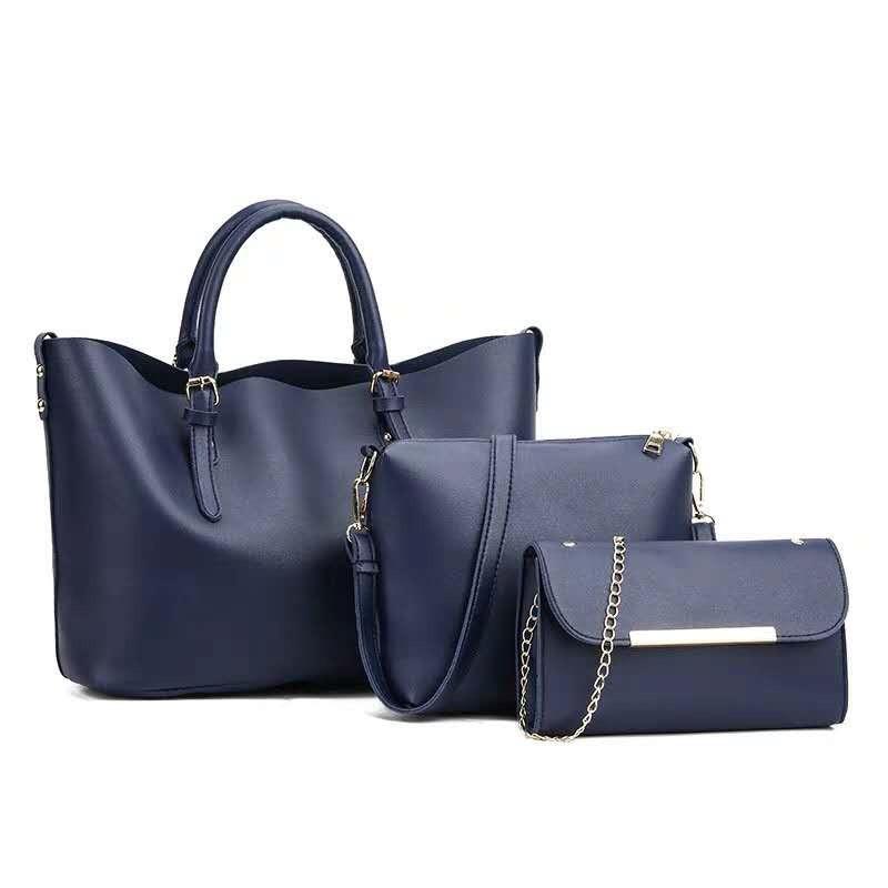 cc654ef417bb Женская сумка 3в1, экокожа PU (синий) - купить по лучшей цене в ...
