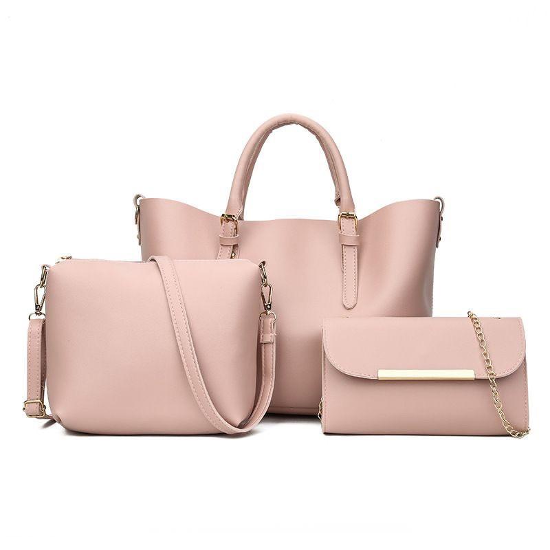 20ae783535dd Женская сумка 3в1, экокожа PU (розовый) - купить по лучшей цене в ...