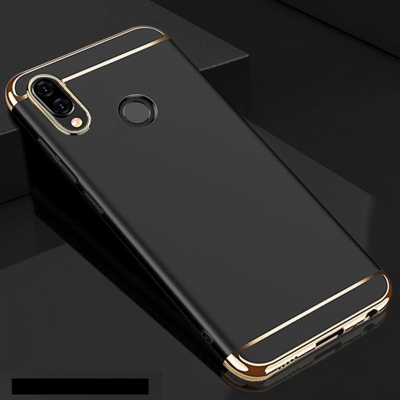 Чехол накладка с золотыми вставками для Huawei P20 Lite (2 цвета)
