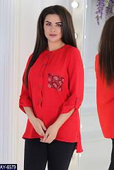 Легкая женская рубашка из коттона 48 50 52 54 56
