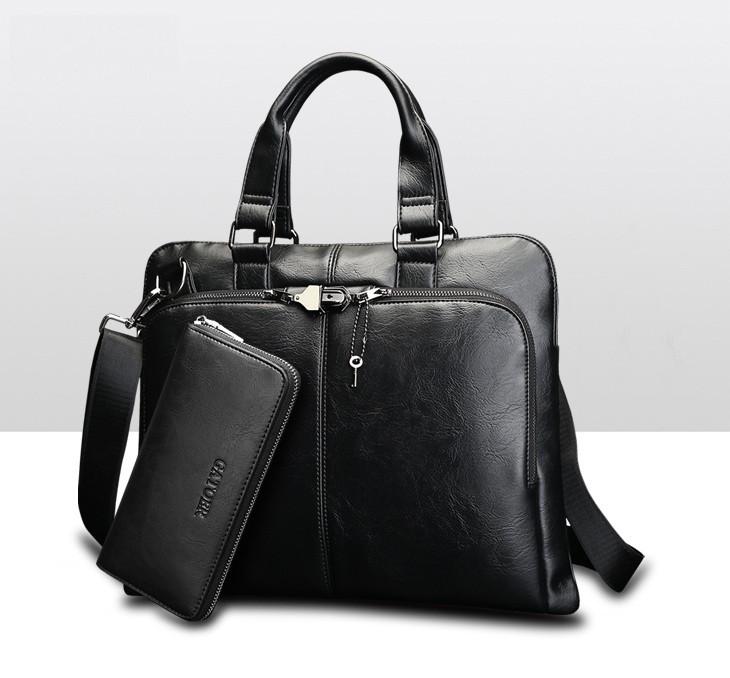 Чоловіча сумка на плече з клатчем