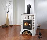 Кафельная  печь каминофен c водяным контуром Haas+Sohn Treviso Слоновая кость., фото 1